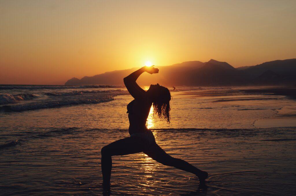 Vinyasa Yoga Sonnenuntergang